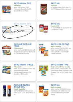 free printable grocery coupons skippy pillsbury campbells and more http