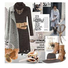"""SHEIN:  autumns embers"" by afezoftheheart ❤ liked on Polyvore featuring moda, rag & bone, Henri Bendel, Chloé, Sam Edelman, FRR, MyStyle, winter2015, brownandgrey e shein"