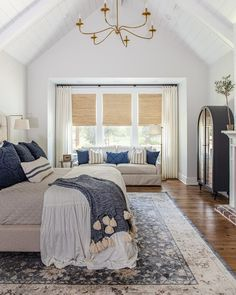 "Moore House Interiors on Instagram: ""Our precious #walkersway clients reached out to us after building their home. They moved in the very basics & were sick of making…"" Bedroom Views, House, Interior, Home Bedroom, Luxury Outdoor Kitchen, Colorful Bedroom Design, White Master Bedroom, House Interior, Bedroom Colors"