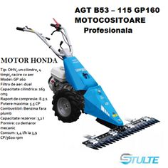 Motocoasa profesionala Bertolini AGT B53/GP160 motor Honda - stulte.ro Nerf, Outdoor Power Equipment, Honda, Garden Tools
