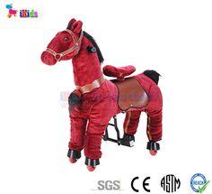 Thú nhún di động - Ngựa đỏ bờm đen. Mã sản phẩm: KLT2012-01F Size: S Kích thước: 66 cm (Chiều dài thân) x 72 cm (Chiều cao) Tải trọng tối đa: 35 kg Độ tuổi phù hợp: 3 - 8...