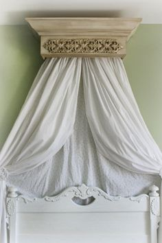 Beautiful White distressed Bed Crown with by TheChicDecorShop $99.95 | nursery | Pinterest | Bed crown Bed canopies and French cottage & Beautiful White distressed Bed Crown with by TheChicDecorShop ...