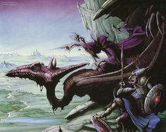 I discovered Rodney Matthews as a teenager. He's probably still my favourite fantasy artist. High Fantasy, Dark Fantasy Art, Fantasy Artwork, Fantasy World, Samurai, Bilal, Fantasy Book Covers, Pochette Album, Sword And Sorcery