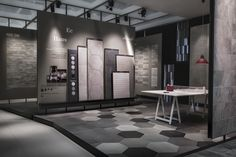 Kale Pavillion at Cersaie 2015 by Paolo Cesaretti, Bologna – Italy Interior Design Degree, Showroom Interior Design, Tile Showroom, Interior Shutters, Interior Exterior, Interior Architecture, Visual Merchandising, Bathroom Showrooms, Tile Stores