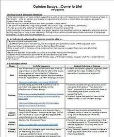 writing essay sample examples traits persuasive example essays   stem unit plan for writing opinion or persuasive essays 5th 6th 7th