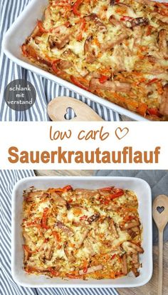 Sauerkrautauflauf low carb It's Oktoberfest . my sauerkraut casserole with liver cheese goes perfectly with it. Sauerkraut bake low carb liver and pepper strips with sauerkraut and fine carrot No Calorie Foods, Low Calorie Recipes, No Carb Diets, Crockpot Recipes, Diet Recipes, Snack Recipes, Smoothie Recipes, Recipes Dinner, Cake Recipes