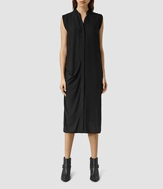 Womens Cam Dress (Black) - product_image_alt_text_1