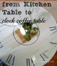 DIY Clock Coffee Tab