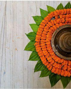 Ganapati Decoration, Flower Rangoli, Flower Decorations, Christmas Tree, Wreaths, Holiday Decor, Flowers, Home Decor, Teal Christmas Tree