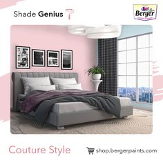 Couture colour scheme, synonymous with high fashion, dictates colours that speak elegant, smart, bold and adventurous. Upgrade your bedroom painting with muted tones, accentuated with pops of colours, best portraits this scheme.
