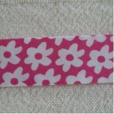 Biaislint fuchsia bloemen - 20mm