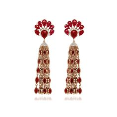 SUTRA RUBY DIAMOND EARRINGS £24,900 25.9 carat ruby 1.15 carat diamond