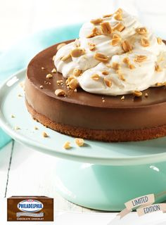 The best of both worlds are combined in this Peanut Butter-Chocolate Cheesecake. With only a 25 minute prep time, this makes a great dessert for your holiday parties. #recipe