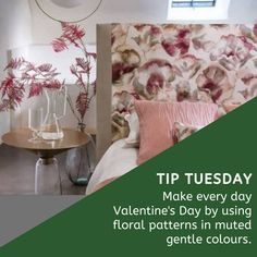 Feeling romantic or want to create a romantic atmosphere that lasts behind Valentine's Day? 💕😍💕 Subtle florals are a great way to transform any room it a romantic love-filled space. And florals do not have to be feminine either – current designs can be bold and contemporary. Contact Nikos on 011 268 0329/nikos@marysinteriors.co.za or pop in to our showroom at Shop 6A Illovo Square Shopping Centre. #mary #maryinteriors #interiordecorator #curtains #upholstery #wallpaper… Showroom, Florals, Celebrations, Centre, Upholstery, Interior Decorating, Mary, Feminine, Tapestry