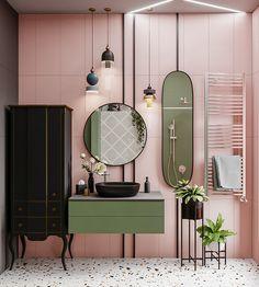Baño de color moderno ¿Qué esta de moda en el baño en 2020? - Quirky Home Decor, Gothic Home Decor, Victorian Decor, Home Decor Kitchen, Cheap Home Decor, Living Room Decor, Bedroom Decor, Bedroom Shelves, Bedroom Signs