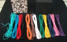 Colored hemp twine pack of  31 skeins 27 by LadySapphiresJewelry, $30.00