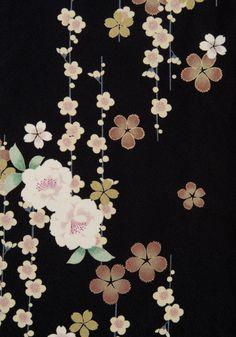 着物 No:788 商品名:黒 タテ桜
