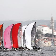 Another shot from from Portoroz Slovenia of the #Melges 24 European #Sailing Series where Team Kesbeke / Sika / Gill was 1st Corinthian and 8th overall. (c) IM24CA/Andrea Carloni  #gillmarine #boat #sailboat by gillmarine