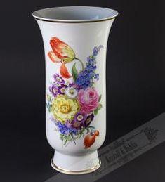 Meißener Porzellan Vase Höhe 34 cm**