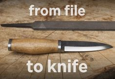 Master knife-making skills using only simple tools. Here& how to turn an old file into a homemade bushcraft knife.