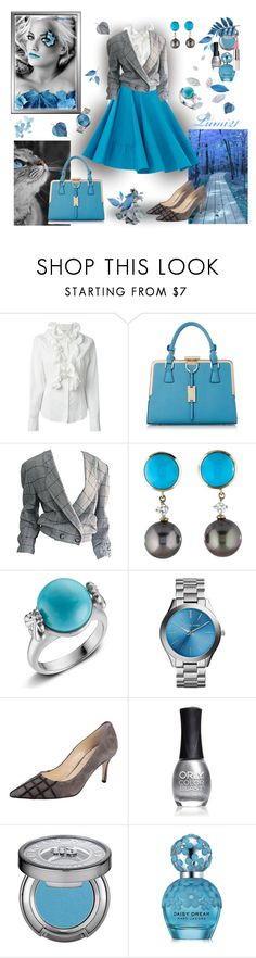 """""""blue autumn"""" by lumi-21 ❤ liked on Polyvore featuring Frankie Morello, Krizia, Slane, Butter Shoes, ORLY, Urban Decay and Marc Jacobs"""