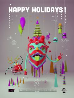 Happy Holidays Poster 2012 by The Acid House, via Behance