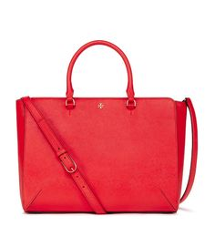 Tory Burch Robinson Large Zip Tote in Poppy Red #TheRobinson
