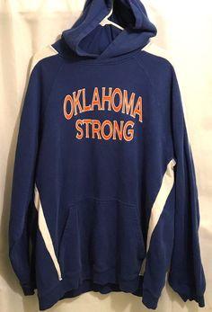 Oklahoma Strong 2XL Hoodie Sweatshirt Sport Tek Blue Orange   Clothing, Shoes & Accessories, Unisex Clothing, Shoes & Accs, Unisex Adult Clothing   eBay!