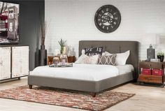 The Nice of california king platform bed — Design Roni Young Upholstered Platform Bed Queen, King Platform Bed Frame, Platform Bed Plans, Platform Bed With Storage, Upholstered Beds, Platform Beds, Backboards For Beds, California King Platform Bed, Living Spaces Furniture