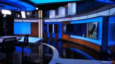 KTVA-TV, the CBS affiliate in Anchorage, Alaska, has debuted its new home and NewscastStudio has an exclusive first look at some photos of the set. Tv Set Design, Stage Design, Tv Sets, New Set, New Room, New Homes, Diy Projects, Design Inspiration, Backyard