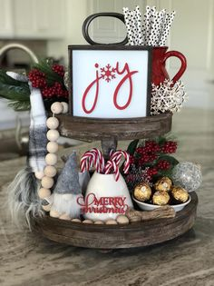 These cute joy sign are a perfect addition to your farmhouse and Rae Dunn fall and holiday Christmas decor. They look great on tiered trays, shelves, hutches or by themselves. These signs are Meaning the letters are raised wood cutouts. Our signs a Farmhouse Christmas Decor, Primitive Christmas, Rustic Christmas, Christmas Home, Christmas Holidays, Farmhouse Decor, Christmas Mantles, Christmas Villages, Silver Christmas
