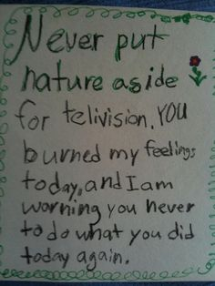 The warning note: | 15 Of The Creepiest Notes A Child Has Ever Written