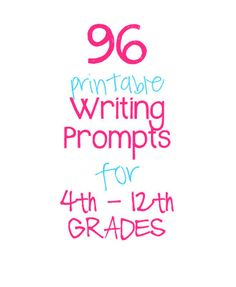 Need some inspiration while writing? Want to have writing prompts ready to go for your students? If so, these 96 prompts are ready to print and are available as a digital download today! #TwoCatsDecorations #WritingPrompts #WritersBlock #TeacherSupplies