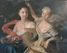 Portrait of Anna and Elizabeth as children. Daughters of Peter the Great and the peasant woman he named Catherine I and Empress of Russia Peter The Great, Catherine The Great, Adele, My Favourite Subject, Imperial Russia, History, Portrait, Painting, Daughters