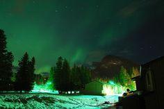 Northern Lights in Banff National Park, Alberta, Canada. Photo via Wikimedia Commons: ...