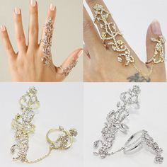soula agrapidakiφο μπιζου · Women Rings Multiple Finger Stack Knuckle Band  Crystal Ring Set Luxury Jewelry W  UnbrandedGeneric   3b1655837f2