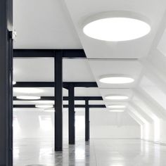 XAL Lighting | Vela Round. Space architects in Copenhagen by www.ankerco.com Ceiling Mounted Light, Ceiling Lights, Corridor Lighting, 4th Street, Light Architecture, Copenhagen, Lighting Design, Denmark, Showroom