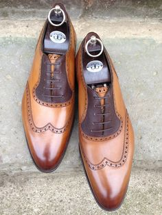 Astaire in Vintage Pine Calf & Dark Brown Pin Grain. DG70