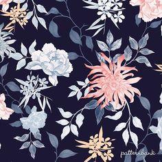 "Gefällt 510 Mal, 3 Kommentare - Patternbank (@patternbank) auf Instagram: ""#patternbankdesigner » patternbank.com/mariia – New floral pattern for #patternbank…"""