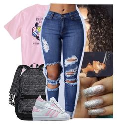 """""""Rockin them grills all the way till my tooth hurts."""" by theyknowtyy ❤ liked on Polyvore featuring Victoria's Secret and adidas Originals"""