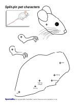 Split-pin safari animals in B&W (SB10109) by SparkleBox