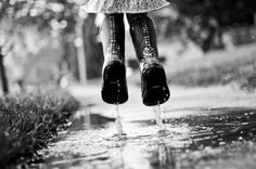 rain boots are for jumping in puddles... Walking In The Rain, Singing In The Rain, Full Contact, I Love Rain, Rain Go Away, Reflection Photography, Photography Poses, Rain Storm, Going To Rain