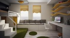 boys room- I'm liking the grey/yellow color scheme