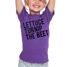 NEW lettuce turnip the beet  toddler 2T 4T or 6  purple by coup, $24.00. Lilly needs this!