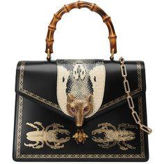 32dcc884247 Gucci Broche Beetle Print Top Handle Bag ( 4