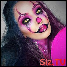 Scary Pink Clown Makeup Look for Halloween Shop online for Avon Make up, Cosmetics and LOTS more. Natural Brows, Natural Eye Makeup, Makeup For Brown Eyes, Unique Halloween Makeup, Halloween Clown, Halloween 2019, Boutique Halloween, Gold Makeup Looks, Makeup For Teens