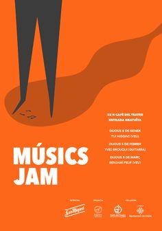 Jam Sessions. Poster. © SopaGraphics #jazz #jam #graphicdesign #illustration
