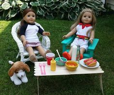 American Girl Doll Crafts and Fun!: Craft: Make a Doll Picnic-Style Table