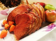 Guava and Habanero Glazed Holiday Ham Recipe #easter