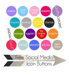 Get your free Social Media Icon Buttons